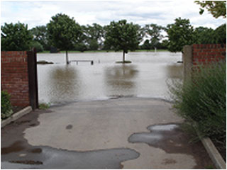 Wath cricket field in South Yorkshire after the 2007 floods